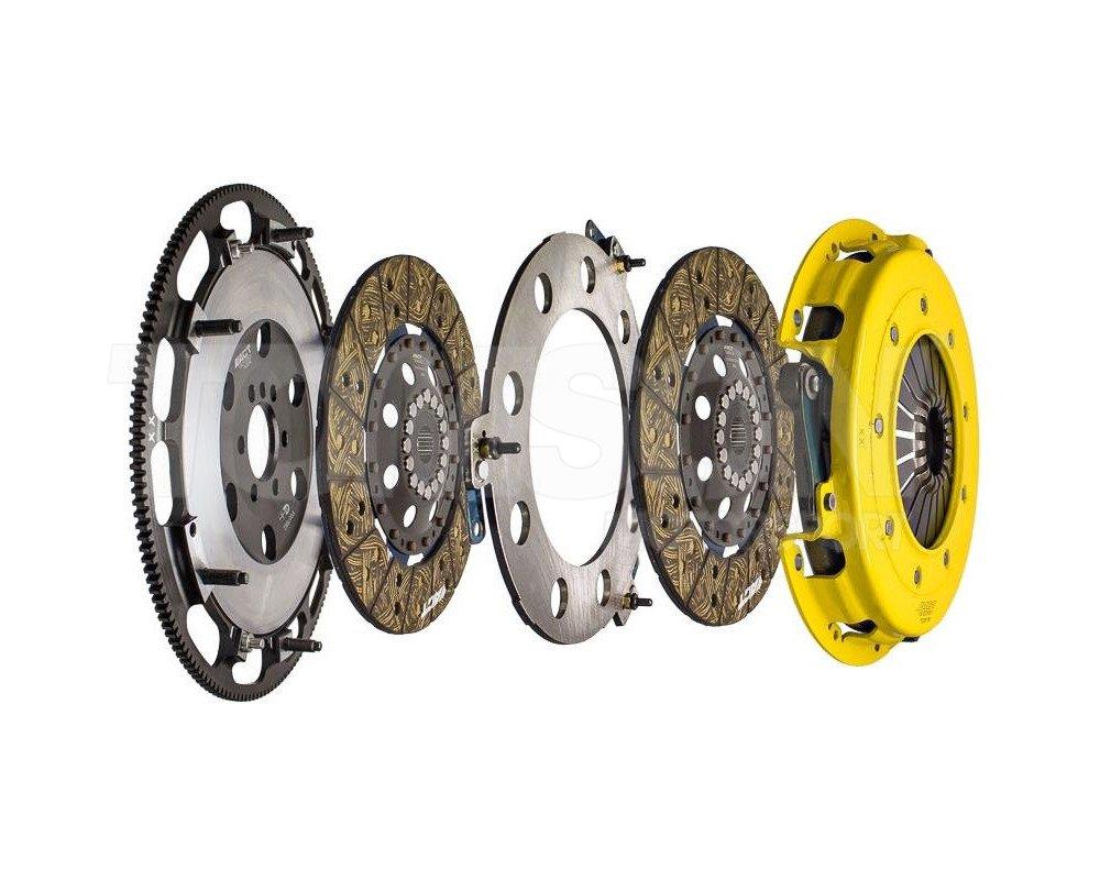 ACT T2S-G06 twin discs clutch kit with XACT Prolite flywheel Chevrolet/GM  LSX 454, LSXR 454, LSX 376 (8 bolts)
