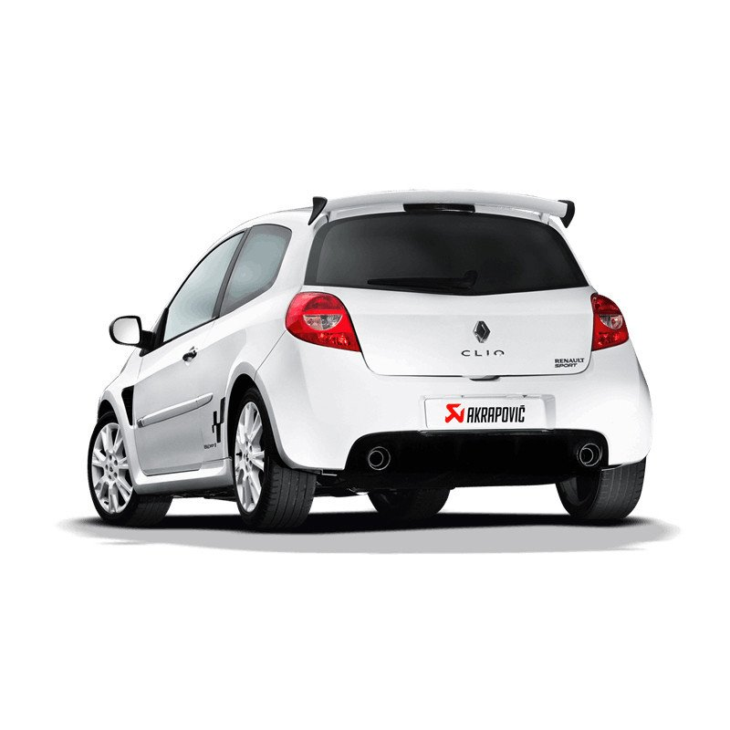 akrapovic slip on mtp recl3rsh exhaust system renault clio 3 sport 197 200km exhaust system. Black Bedroom Furniture Sets. Home Design Ideas