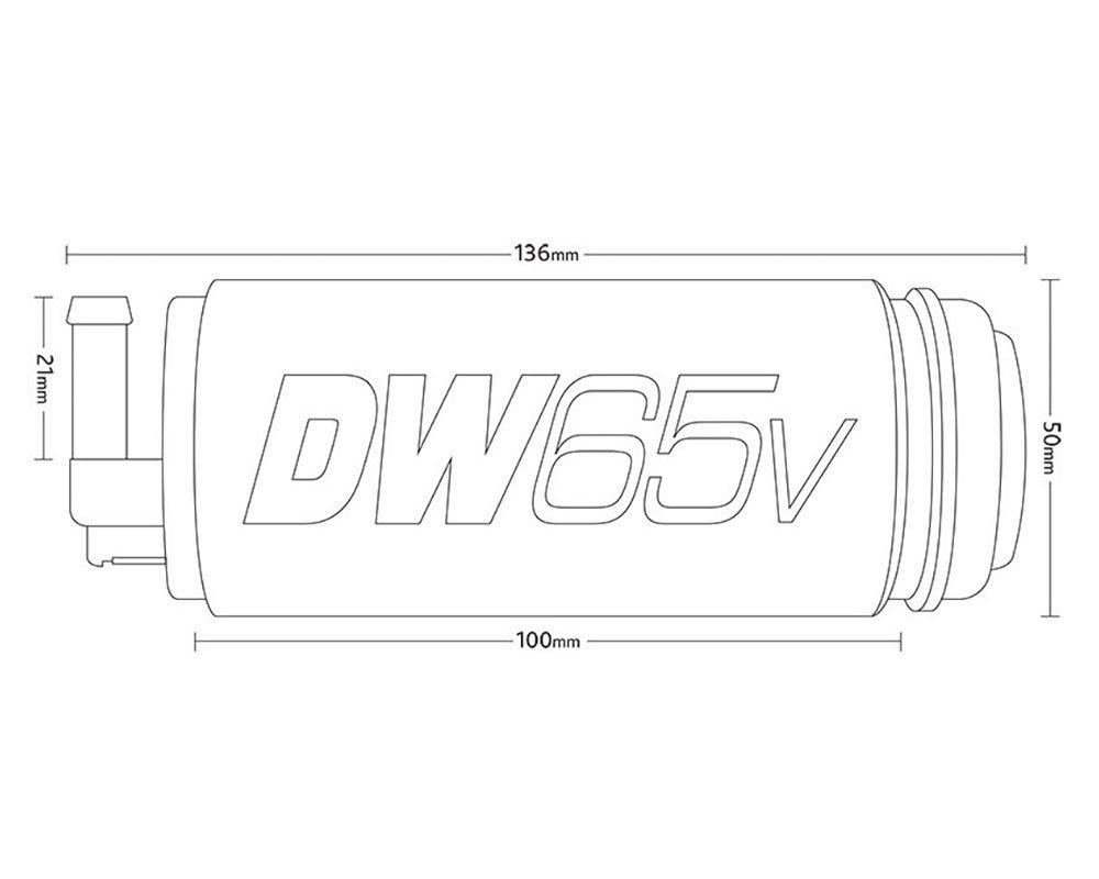 DeatschWerks DW65v In-Tank Pump for AUDI 3.2 VR6 AWD 9-655-1025
