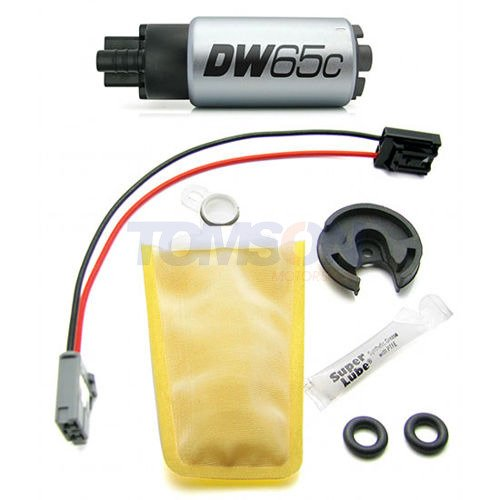 DEATSCH WERKS DW65c Compact In-Tank Fuel Pump for Universal 9-652-1000 w// clips
