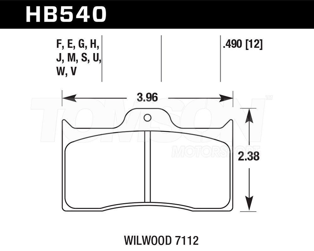 Hawk DTC-60 Disc Brake Pads HB540G.490