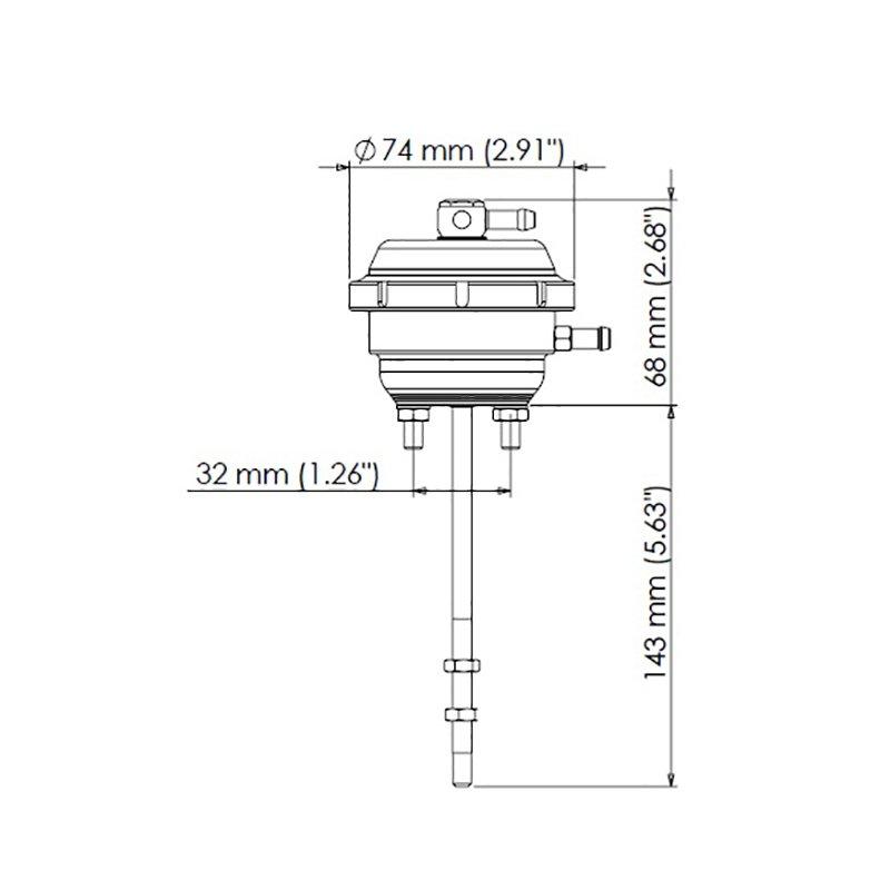 turbosmart ts 0620 2143 actuator wastegate 14 psi for. Black Bedroom Furniture Sets. Home Design Ideas