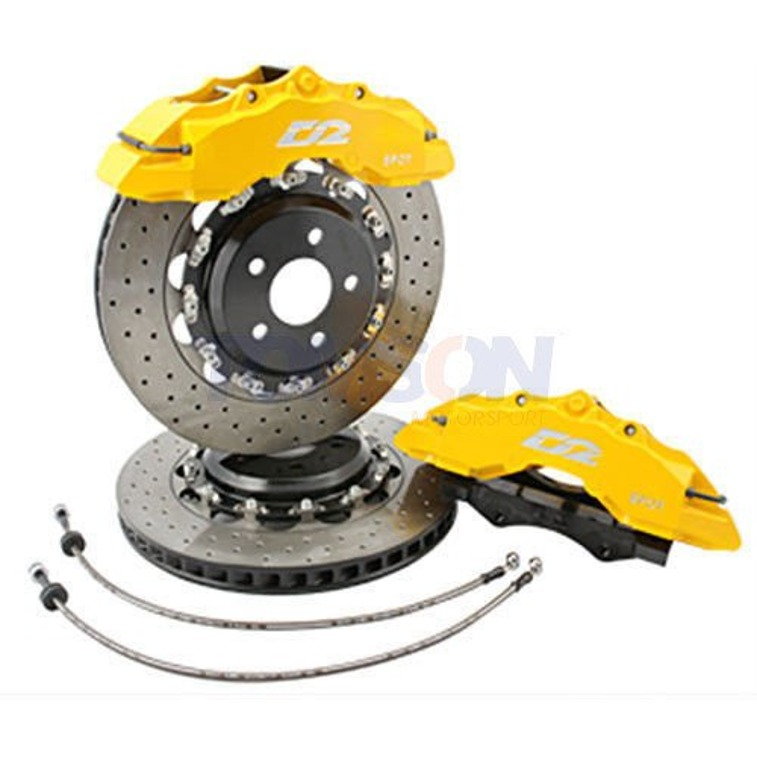D2 Racing Street big brake kit with floating discs 380 mm 8-pot Toyota Land Cruiser LC200 (front)