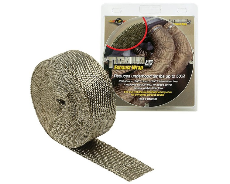 DEI 010131 Titanium Exhaust Wrap with LR Technology
