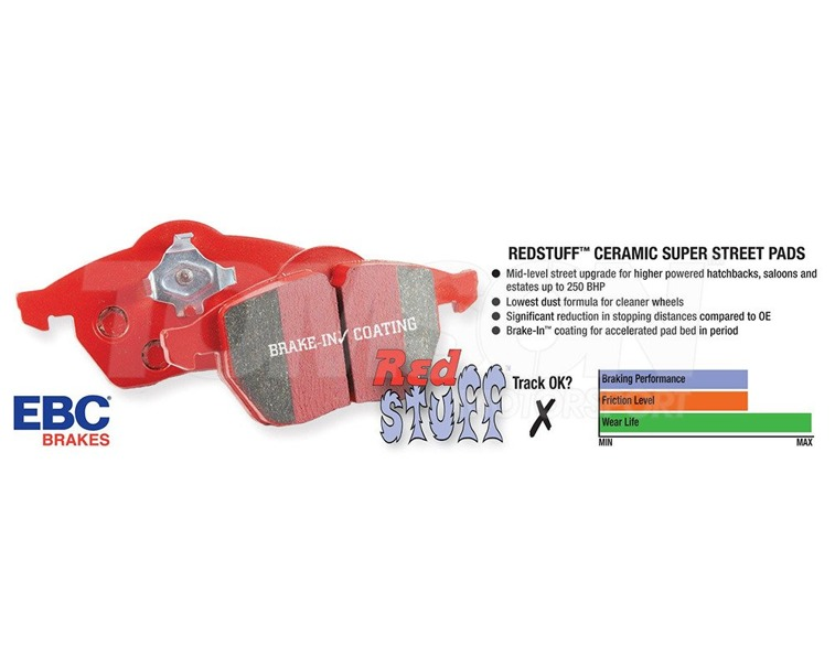 EBC brake pads Red Stuff Alfa Romeo 147, 156 GTA (rear)