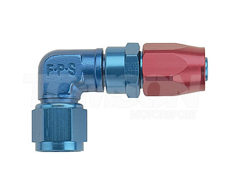 Fragola 109120 3000 series AN-20 90° forged low profile hose end (blue/red)