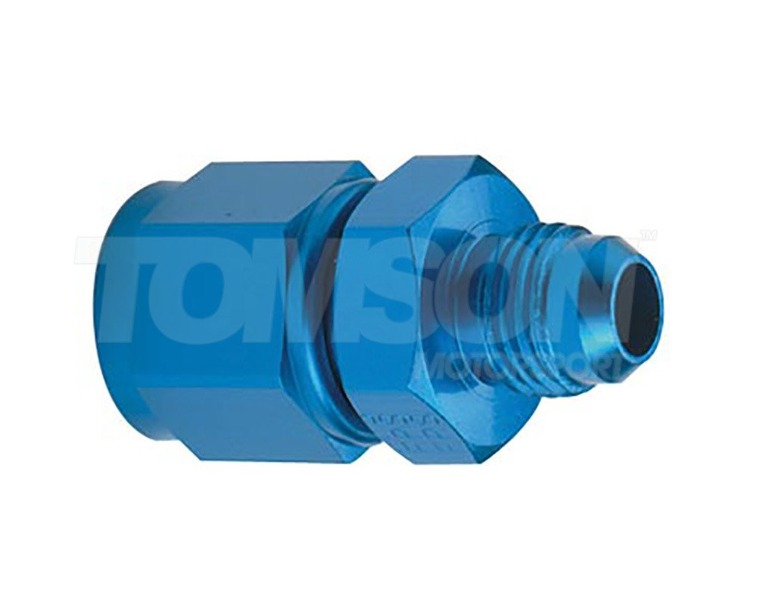 Fragola 497218 single swivel reducer AN-8 female to AN-4 male (blue)