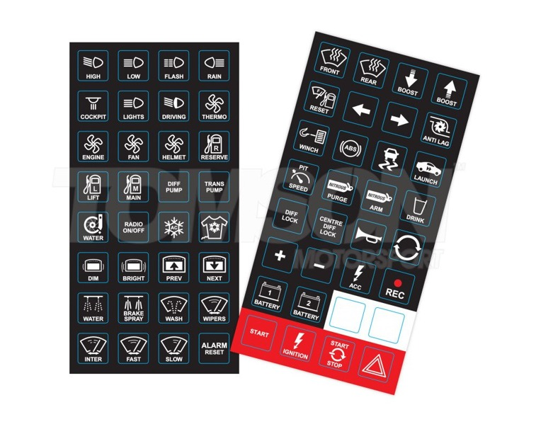 Motec 63044 CAN keyboard inserts, keys, labels