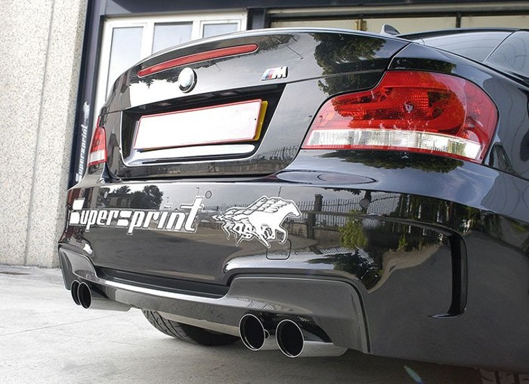 Supersprint cat back exhaust without catalityc converters BMW 1M E82 2011-