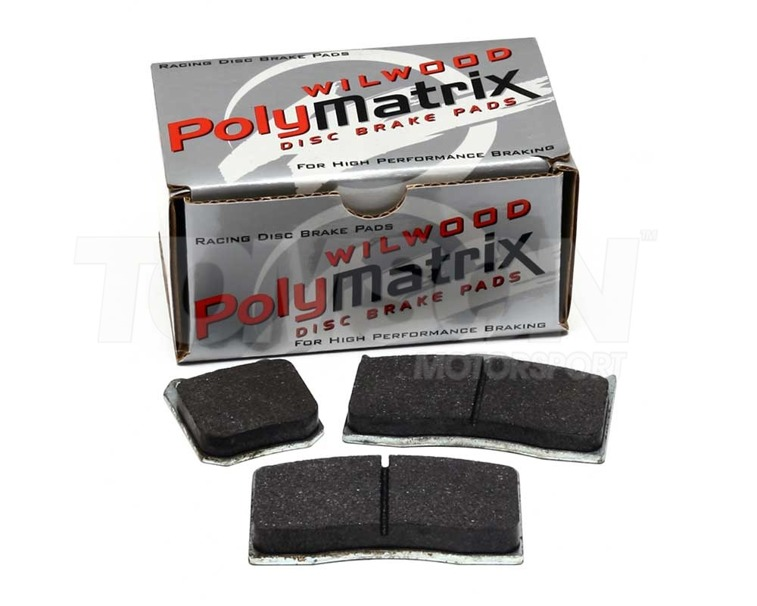 Wilwood 15B-6705K PolyMatrix B brake pads for Wilwood 4 and 6-pot callipers (7416)