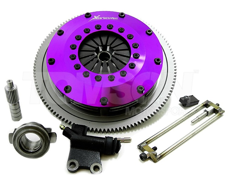 Xtreme KHN20522-2E 200mm Rigid Ceramic Twin Plate clutch kit with flywheel Honda Civic, Integra B16A, B16A2, B18B, B18C 1994-2001